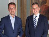 Bundestagsabgeordneter Dr. Lars Castellucci zu Besuch im Leimener Rathaus