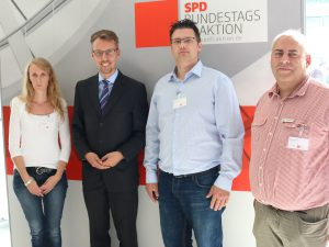von links nach rechts: Christina Kauth, Lars Castellucci, Patrick Fuchs und Matthias Frick