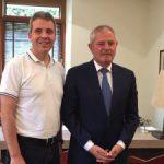 Oberbürgermeister Hans Reinwald absolviert seinen ersten Auslandsbesuch