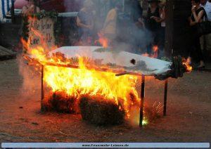 Kerweschlumpel brennt