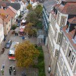 Feuerwehr Unterkreisübung: Kleinflugzeug stürzt in Nußlocher Schillerschule