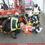 Brandmeldealarm wird Großeinsatz: DRK bei der Gesamtübung der Feuerwehr Leimen
