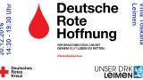Ankündigung Blutspendeaktion in Leimen-Mitte