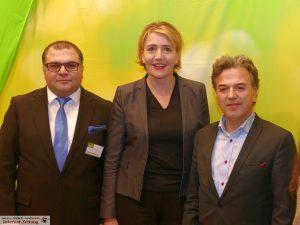 v.l. Sahin Karaaslan, Simone Peter, Mehmet Kilic