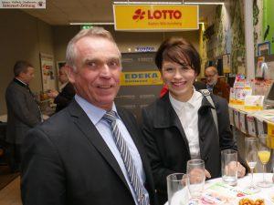 Uwe Sulzer mit Nathalie Müller (Weingut Müller, Leimen)