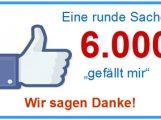 Schon wieder auf Rosenmontag: Danke für 6.000 Likes auf unserer Facebookseite