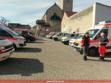 Leimener Rettungswagen und Notfall-Krankentransportwagen bei Faschingsumzügen der Region im Einsatz