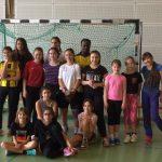 Hoffenheimer U14-Torfrau besucht Mädchen-Fußball-AG der Otto-Graf Realschule