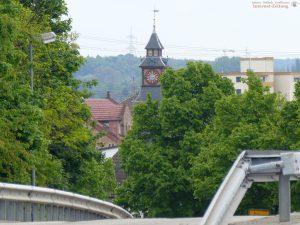 Blick vom Kreisel Richtung St. Ilgen