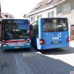 Begegnen sich zwei Busse … </br>… dann ist die Rathausstrasse dicht!