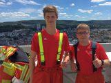 Zwei Sandhäuser Feuerwehrleute erfolgreich beim 22-Stock Treppenlauf