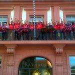 OB Reinwald gratuliert der Meistermannschaft des FC Badenia St. Ilgen