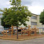 Mikado auf dem Schulhof der Friedrich-Ebert-Werkrealschule – Wackeln erlaubt!