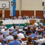 Kreistagssitzung in der Leimener Kurpfalzhalle – DRK sicherte ab