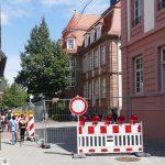 Turmgasse vor Turmschule ist jetzt Schulhof und nicht befahrbar