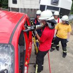 Heißausbildung bei der Feuerwehrabteilung in Leimen-Mitte