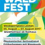 Waldfest der Liedertafel vom 5.-7. August