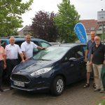 CarSharing jetzt auch in Sandhausen an der neuen stadtmobil-Station