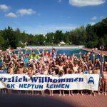 Neptun Ferienprogramm im Freibad mit 55 Kindern