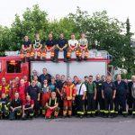 Gemeinsame Übung der Feuerwehren Sandhausen und Nußloch