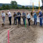 Hochwasserschutz für Leimen-Süd: Spatenstich für 3 Fußballfelder großes Becken