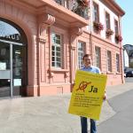 Kompliziert: Wahlkampf der Bürgerinitiative in Sachen Bebauung des Rathausplatzes