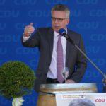 Wahlkampf zur Bundestagswahl 2017: Innenminister Thomas de Maizière in Leimen