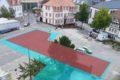 Geplante Rathausplatz-Bebauung: Eingezeichnete Flächen sind ohne Parkraum