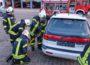 Samstag für Nußloch avisierte Katastrophen: Autounfall, Küchenbrand und Herzstillstand