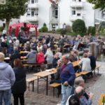 SPD Sandhausen am Tag der Deutschen Einheit mit Rainer und Vanessa Kraft