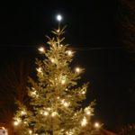Aufstellen des Weihnachtsbaumes in Dilje am Mittwoch