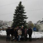 Haus + Grund spendete wieder 500,- EUR für Weihnachtsbaum am Kreisverkehr