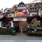 Die Jugendfeuerwehr auf dem Leimener Weihnachtsmarkt