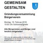 Einladung: Gründung des Gauangellocher Bürgervereins am 19. Februar