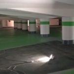Sanierung der Georgigarage macht Fortschritte: Farbauftrag zeigt baldiges Ende an