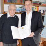 Ehemaliger Nußlocher Gemeinderat Fritz Bräunling feierte 90. Geburtstag