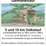 8. April: Germanenlauf / Volkslauf über 5 und 10 km plus Schülerläufe