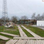 110 KV Strommasten werden getauscht – Absicherungsgerüst an der B3