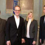 MdB Jens Brandenburg zu Gast im Leimener Rathaus