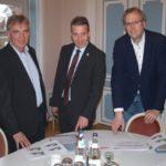 L600-Sperrung: MdL Karl Klein und Dr. Schütte zum Infobesuch im Leimener Rathaus