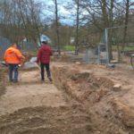 Am Spielplatz beim Leimener Naturfreundehaus wird derzeit gebaut.