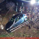 """Feuerwehrübung in Leimen mit Lage: </br>""""PKW von Straße abgekommen!"""""""