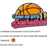 14. April: Basketball Schnuppertraining für Mädchen