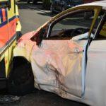 Rohrbach-Süd: Unfall mit Rettungswagen </br>Vier Verletzte, drei davon schwer