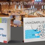 Freitag, 20. April im Landgut Lingental: Buchparty & Flying Buffet im Wechsel