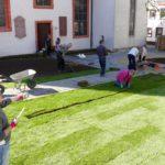 Klein-Versailles im Mauritius-Kirchgarten - Mit Rollrasen schnell ans Ziel
