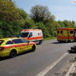 Schwerer Unfall mit Motorrad-Beteiligung zwischen Leimen und Nußloch