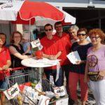 Erfolgreiche Sammelaktion der AWo-Sandhausen vor REWE-Markt
