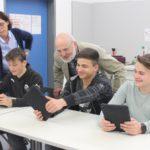 Mobiles Lernen mit Tablet-Computern am Fr.-Ebert-Gymnasium Sandhausen