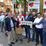 Maibaumfest von Leimen aktiv sah OB Hans Reinwald an den Smovey-Ringen